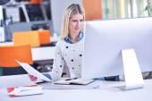 Donna d'affari di successo — Foto Stock