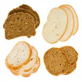 The cut slices of bread — Stock Photo