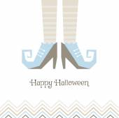 Vector card for Halloween. Witches' shoes. — Stock Vector