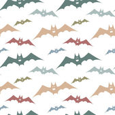 Seamless pattern with colorful bats. Bats for Halloween party. — Stock Vector