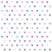 Colorful hearts. Seamless vector pattern. — Stock Vector