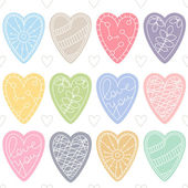 Colorful hearts. Romantic seamless vector pattern for Valentine's Day or wedding. — Stock Vector