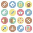 Modern flat colorful vector business icons set. Interface. Isolated on white background. — Stock Vector #68101071