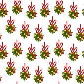 Seamless vector pattern in Christmas style with Christmas items. Background in cartoon style. — Stok Vektör