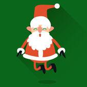 Cute Santa Claus style flat. — Stock Vector
