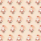 Seamless vector patternwith Sana Claus . — Stock Vector