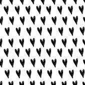 Black hearts background — Stock Vector