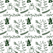 Christmas background. Drawing freehand pencil style. — Vettoriale Stock