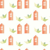 Seamless pattern on the theme of childhood. — Stockvector