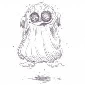 Hand drawn illustration of Halloween character — Stock Vector
