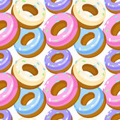 Vector seamless pattern with donuts. — Stock Vector