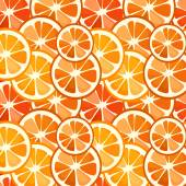 Christmas seamless pattern of tangerines — Stock Vector