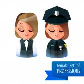 Vector illustration police — Stock Vector