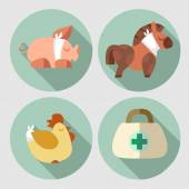 A set of images on the theme of Veterinary — Stockvector