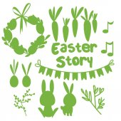 Set of Easter flat elements. — Stock Vector