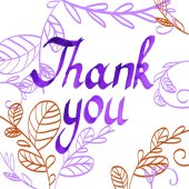 Thank You Hand Painted Text. — Stock Vector