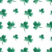 Seamless pattern of leaves of clover — Stock Vector
