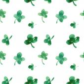 Seamless pattern of leaves of clover — ストックベクタ
