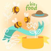 Honey digital illustration. — Stock Vector