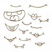 Hand draw cartoon mouth icon. — Stock Vector