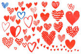 Set of hearts for Valentine's Day — Vector de stock
