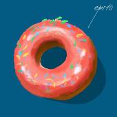 Glazed ring doughnut — Stock Vector