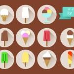 Set icons of ice cream. — Stock Vector #71686487