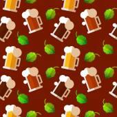Pattern for Oktoberfest in flat style. — Stok Vektör