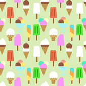 Set icons of ice cream. Pattern background — Stock Vector