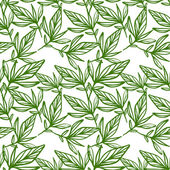Seamless pattern of leaves — Stock Vector
