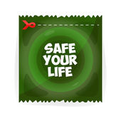 Save your life. Speed, green  symbol — Stock Vector