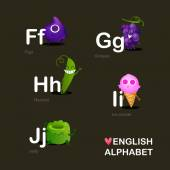 Children's  Funy alphabet. — Stock Vector