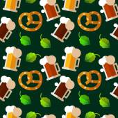 Seamless repeat pattern for Oktoberfest — Stock Vector