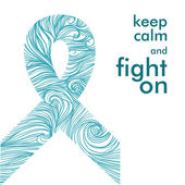 Symbol of the fight against cancer — Vector de stock