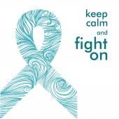 Symbool van de strijd tegen kanker — Stockvector