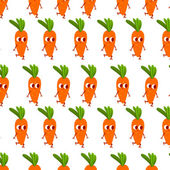 Cartoon carrot pattern — Stock Vector