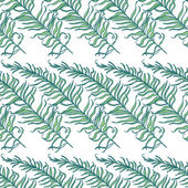 Fern Leaves Seamless Pattern — Stockvektor