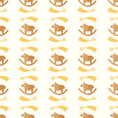 Children's pattern with horses — Vettoriale Stock