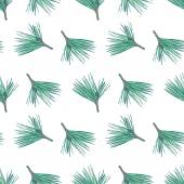 Seamless pattern with pine — Stock Vector