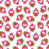 Seamless pattern strawberries — Stock Vector