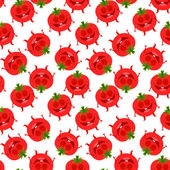 Seamless tomato background — Stock Vector