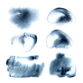 Watercolor stains isolated — Stock Vector