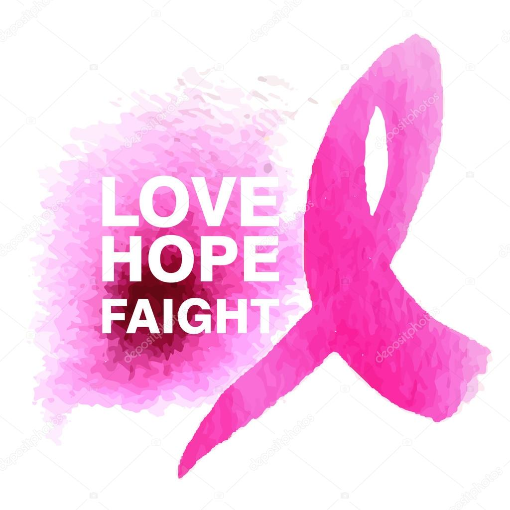 Symbol Of The Fight Against Breast Cancer Stock Vector