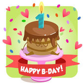 Greeting card for birthday. — Stock Vector