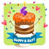 Greeting card for birthday — Stock Vector