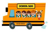 Cartoon School Bus — Stock Vector