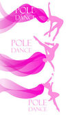 Set of Pole Dancer — Stock Vector