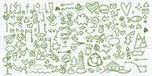 Universal doodle set — Stock Vector