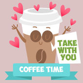 Cup of coffee, Cappuccino, cocoa — Stock Vector