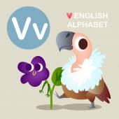 Children's funny alphabet. — Stock Vector